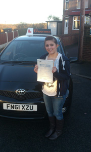 Driving Lessons Sutton in Ashfield Aleia Stickley