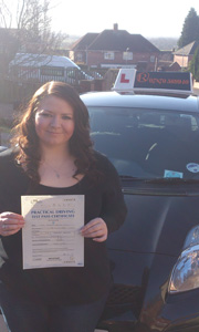 Driving Lessons in Mansfield - Kayley Hill